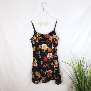 Ambiance Apparel Floral Skater Dress Large